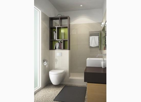Mal koupelna se sprchov m koutem styl a interier for 3d bathroom drawing