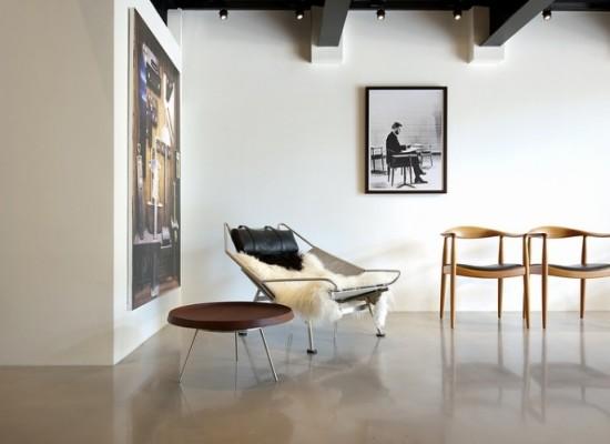Moderní retro obývací pokoj