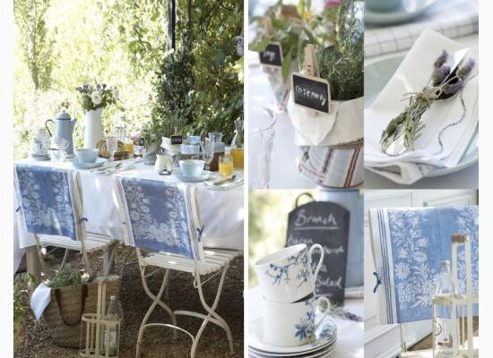 Utěrka jako dekorace pro zahradní židle