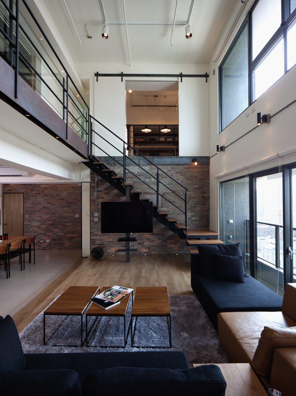 Modern bydlen v podkrov styl a interier for Loft modernos exterior