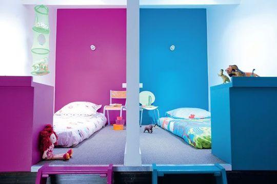Vesel interi r s vysok mi eb ky styl a interier - Separer une chambre en deux avec une seule fenetre ...
