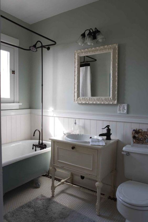 Wainscoting Height Bathroom